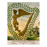 Los emblemas históricos de Irlanda Postales