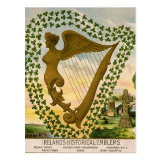 Los emblemas históricos de Irlanda Tarjeta Postal