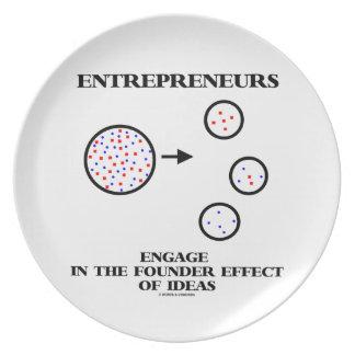 Los empresarios enganchan al efecto del fundador d plato de cena