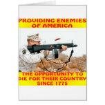 Los enemigos de América mueren por su país 1775 Felicitacion