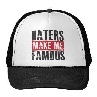 Los enemigos me hacen famoso gorra