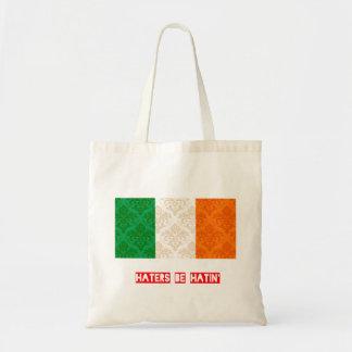 Los enemigos sean hatin Irlanda Bolsa Tela Barata