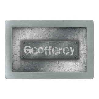 Los engranajes metálicos con la etiqueta empernada hebilla de cinturon rectangular