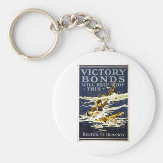 Los enlaces de la victoria ayudarán a parar esta llavero redondo tipo pin