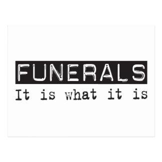 Los entierros es tarjetas postales