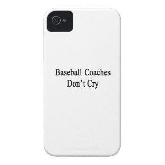 Los entrenadores de béisbol no lloran iPhone 4 Case-Mate cárcasas