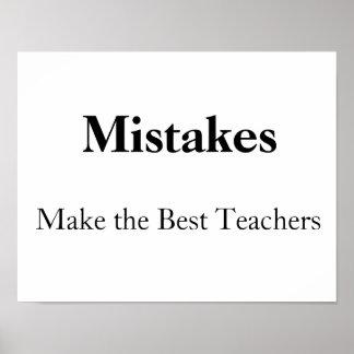 los errores hacen a los mejores profesores póster