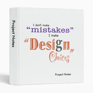 Los errores/las opciones del diseño - proyecte la