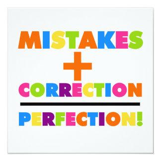 Los errores más la corrección igualan la comunicados personalizados