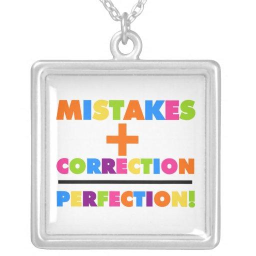 Los errores más la corrección igualan la perfecció joyeria personalizada
