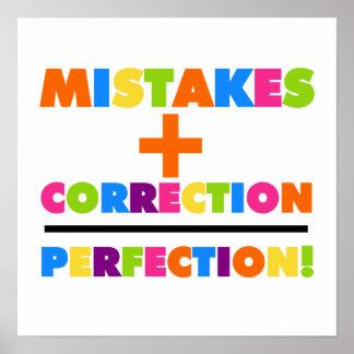 Los errores más la corrección igualan la perfecció poster