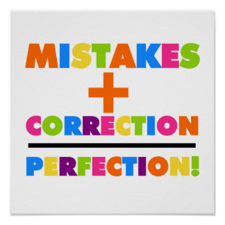 Los errores más la corrección igualan la perfecció póster