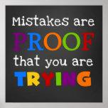 Los errores son prueba que usted está intentando e