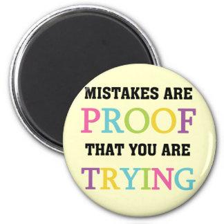 Los errores son prueba que usted está intentando imán redondo 5 cm