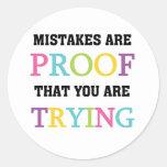 Los errores son prueba que usted está intentando etiquetas redondas