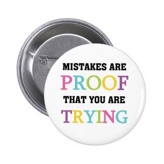 Los errores son prueba que usted está intentando pin