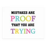 Los errores son prueba que usted está intentando tarjeta postal
