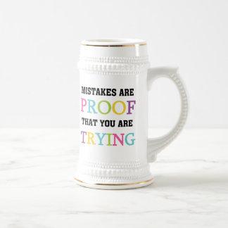 Los errores son prueba que usted está intentando tazas