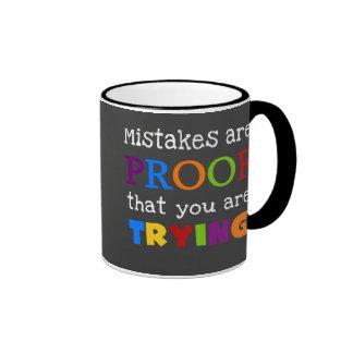 Los errores son prueba que usted está intentando taza a dos colores