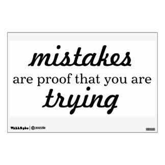 Los errores son prueba que usted está intentando - vinilo