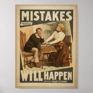"""Los errores sucederán, al lado del vintage T de """"G Poster"""