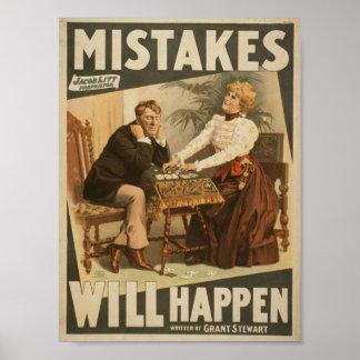 """Los errores sucederán, al lado del vintage T de """"G Posters"""