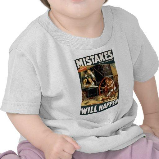 Los errores sucederán camisetas
