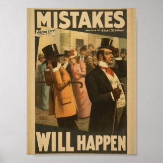 """Los errores sucederán, por retro de """"Grant Stewart Impresiones"""