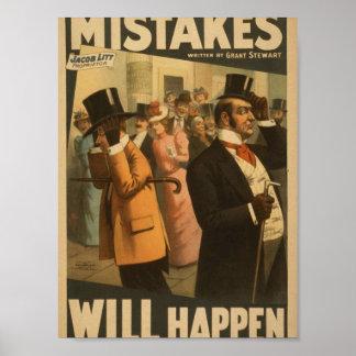 """Los errores sucederán, por retro de """"Grant Stewart Posters"""