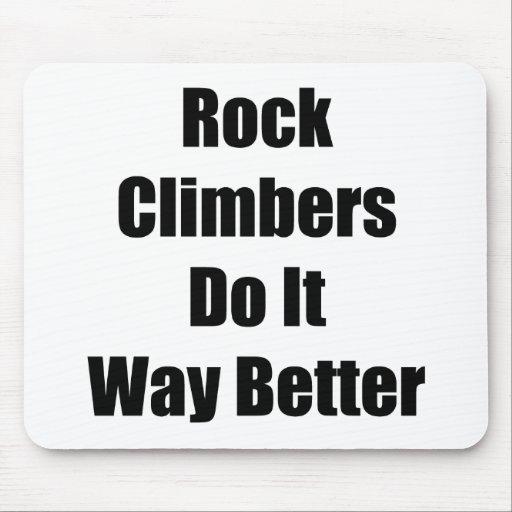 Los escaladores de roca lo hacen manera mejor tapete de ratones