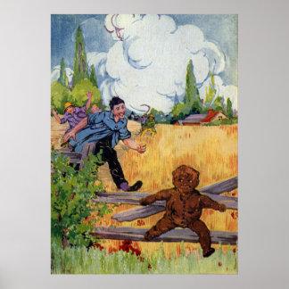 Los escapes del muchacho del pan de jengibre póster