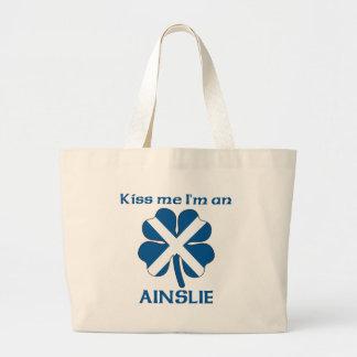 Los escoceses personalizados me besan que soy Ains Bolsa Lienzo