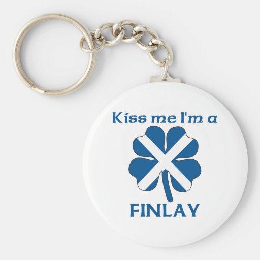 Los escoceses personalizados me besan que soy Finl Llavero Redondo Tipo Pin