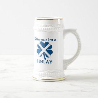 Los escoceses personalizados me besan que soy Finl Tazas De Café