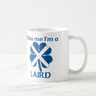 Los escoceses personalizados me besan que soy hace taza básica blanca