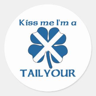 Los escoceses personalizados me besan que soy pegatina redonda