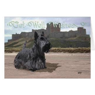 Los escoceses Terrier consiguen deseos bien Tarjeta De Felicitación