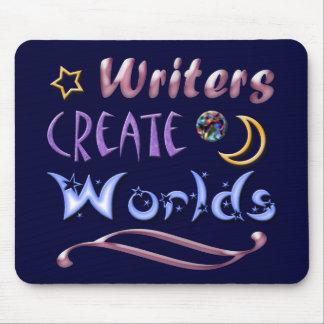 Los escritores crean los mundos tapetes de ratones