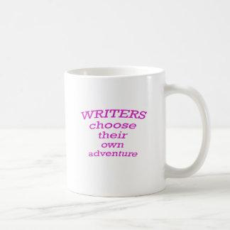 Los escritores eligen su propia aventura tazas de café