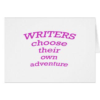 Los escritores eligen su propia aventura tarjetón