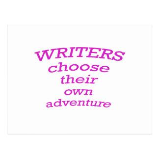 Los escritores eligen su propia aventura postal