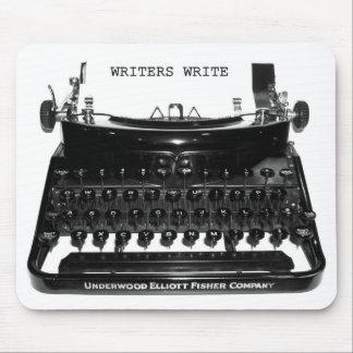 Los escritores escriben la máquina de escribir Mou Mouse Pad