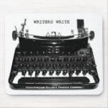 Los escritores escriben la máquina de escribir Mou Alfombrillas De Ratones