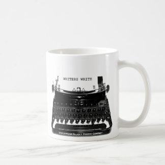 Los escritores escriben la taza