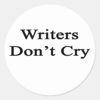 Los escritores no lloran pegatina redonda
