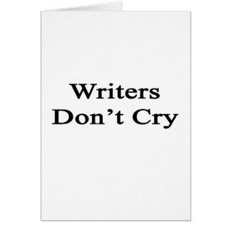 Los escritores no lloran tarjeta