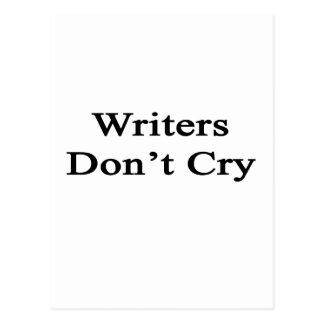 Los escritores no lloran tarjeta postal