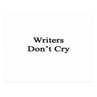 Los escritores no lloran postal