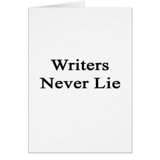 Los escritores nunca mienten tarjeton