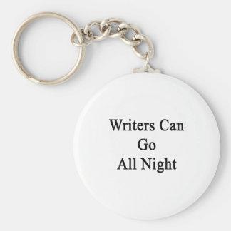 Los escritores pueden ir toda la noche llavero